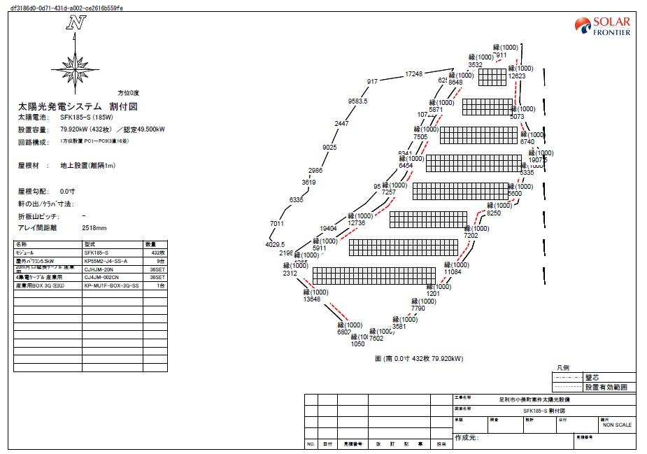 【AD】FIT18円 栃木県足利市小俣町太陽光第二発電所のメイン画像