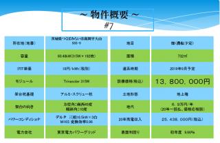 【CEE】FIT18円 茨城県つくばみらい市 高岡低圧発電所7のサブ画像