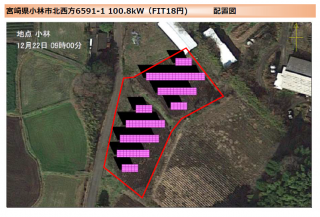 【SB】小林市北西方太陽光発電所のメイン画像
