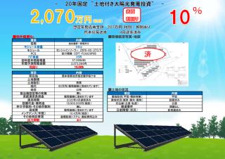 【SB】FIT36円 熊本県菊池市旭志麓⑨太陽光発電所のメイン画像